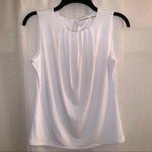 Calvin Klein Sleeveless Pleated Top (Size: 4P)